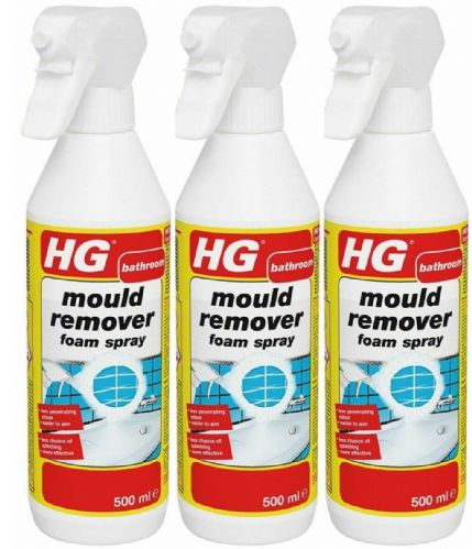 HG Mould Remover Foam Spray - 500ml Pack of 3
